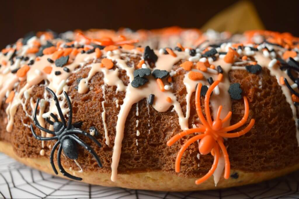 Spooky Spider Cake for Halloween