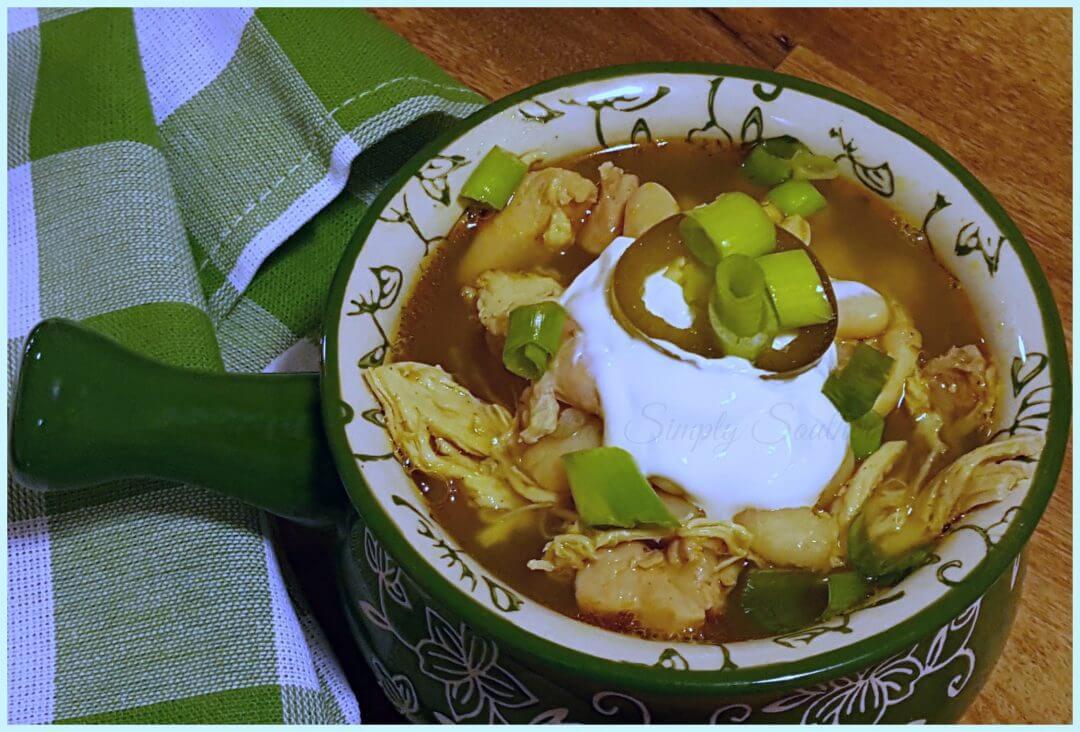Southern White Chicken Chili, Easy Recipe