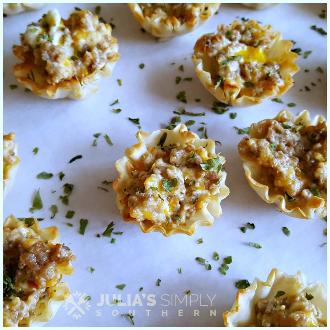 Delicious holiday appetizers with cream cheese