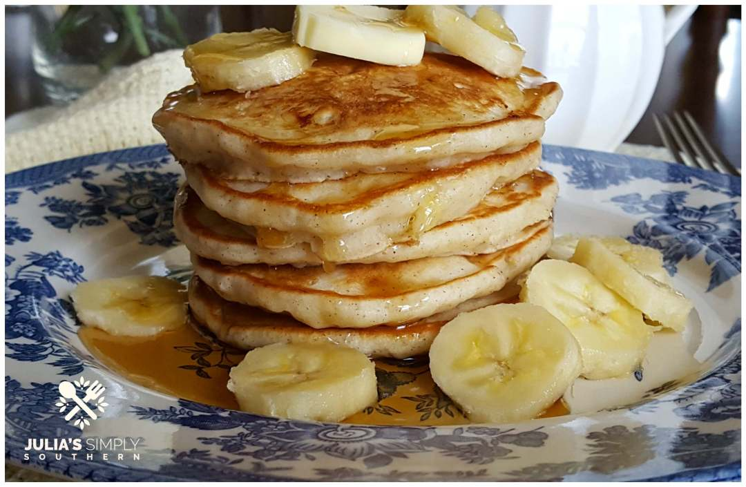 Fluffy stack of buttermilk pancakes