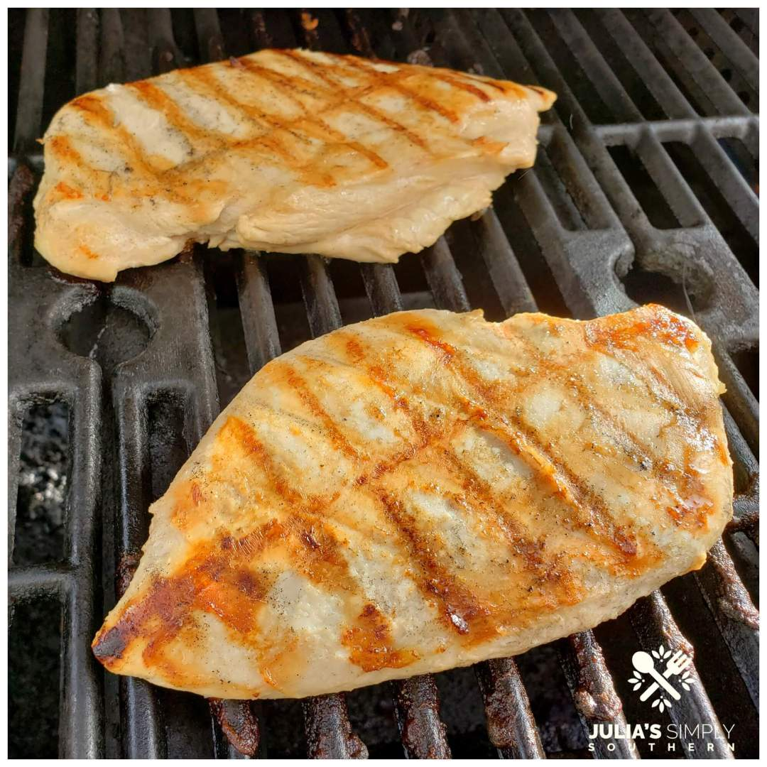 Easy Southern Grilled Chicken on a gas grill