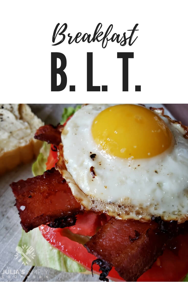 How to make a breakfast sandwich? A Breakfast BLT sandwich is a classic bacon, lettuce and tomato taken up a notch with the addition of cheese and a fried egg - all on toasted bread with mayonnaise. Enjoy this amazing sandwich for breakfast, lunch or dinner #breakfast #brunch #bacon #BLT #friedegg #EasyRecipe #SouthernFood