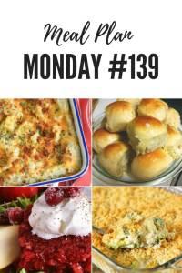 Meal Plan Monday #139 Easy Big Fat Yeast Rolls, Broccoli Cheese Salad, Cranberry Jello Salad #MealPrep #MealPlanning #Recipes