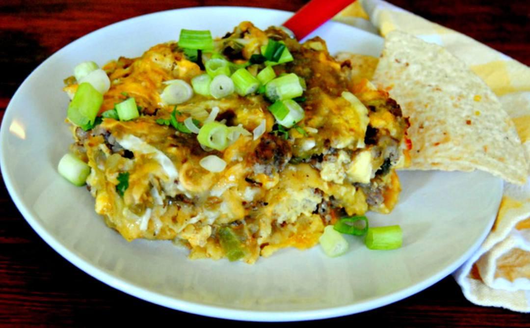 Salsa Verde Breakfast Casserole recipe - Miz Helen's Country Cottage