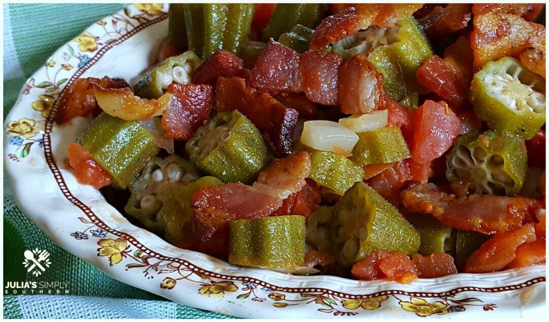 Southern Okra and Tomatoes - Julia's Simply Southern