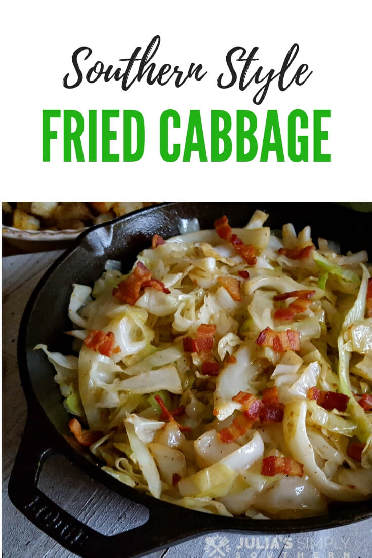 How to make Southern style fried cabbage with bacon #easyrecipe #lowcarb #SouthernFood #cabbage