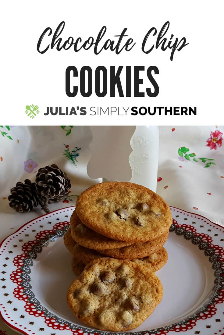 Ruth Wakefield's Original Nestle Toll House Chocolate Chip Cookies Recipe - a delicious home baked classic cookie perfect for sharing during the holidays and all year round #dessert #cookierecipe #holidaybaking #Christmas | Julia's Simply Southern