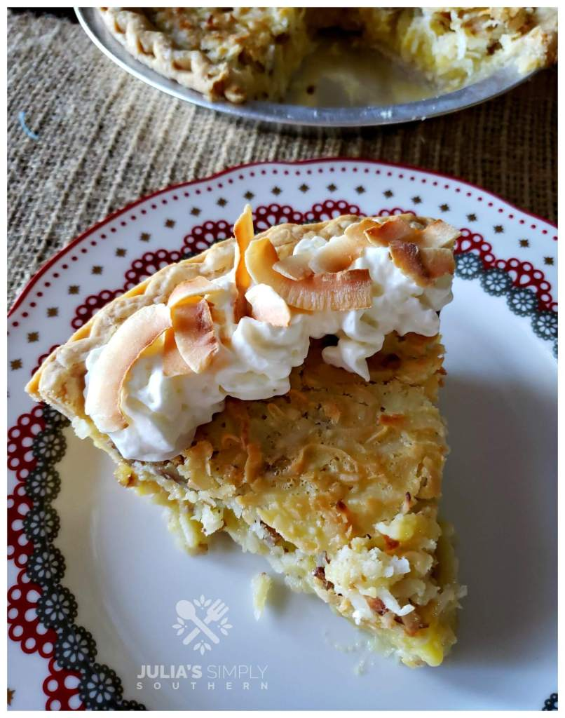 vintage Southern dessert recipes - Coconut Chess Pecan Pie