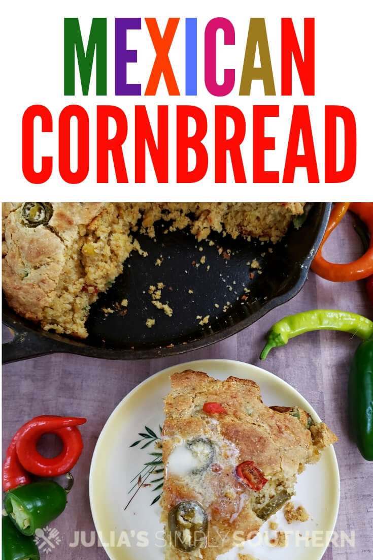 How to make Mexican Cornbread? This Southern style spicy Mexican cornbread is easy and delicious. It is moist with just the right level of spiciness and touch of sweetness. A cheesy delicious side for your meal. #Cornbread #MexicanCornbread #CincodeMayo #SideDish #SpicyCornbread #EasyRecipe #SouthernFood