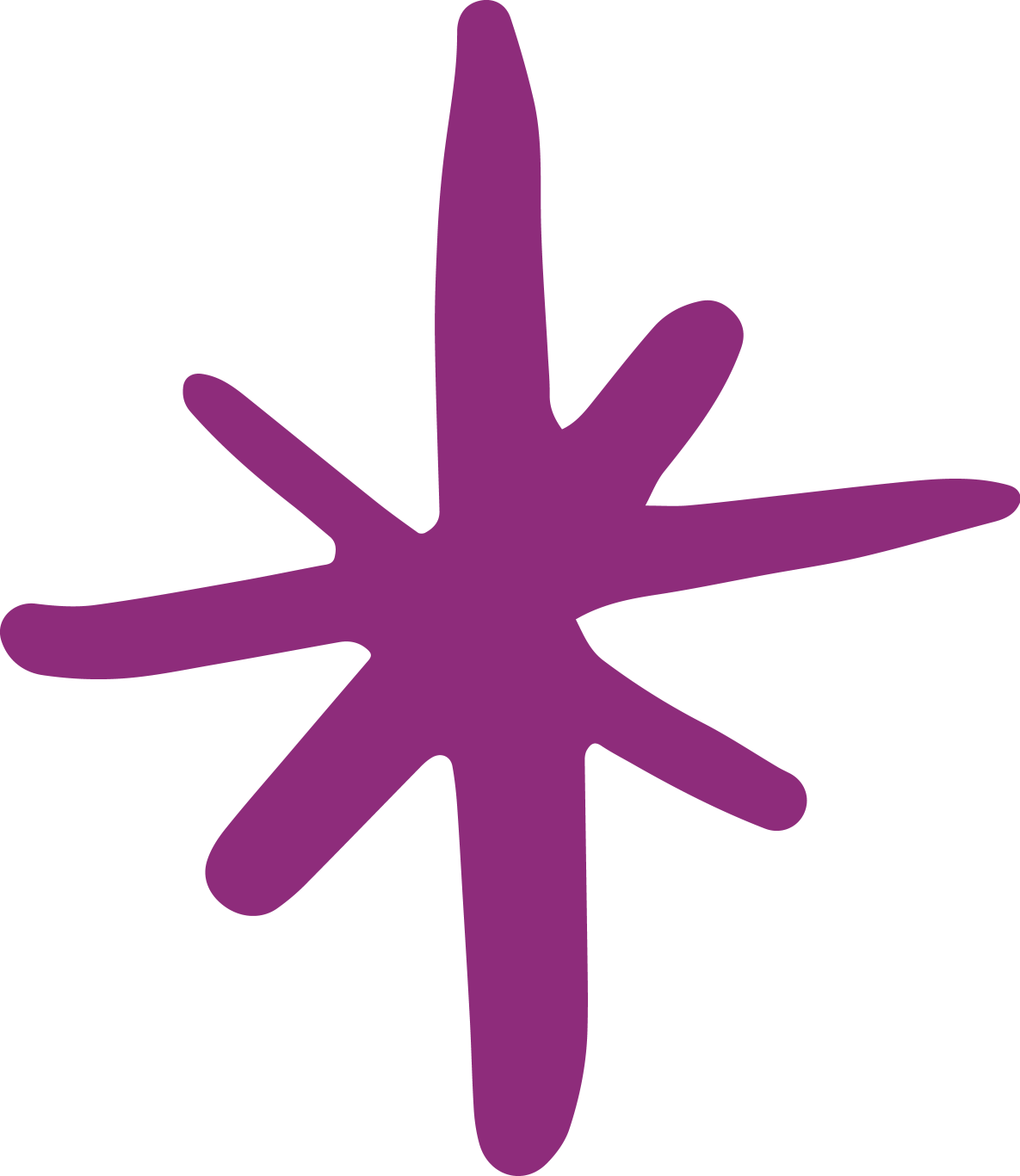 asterisk star in purple