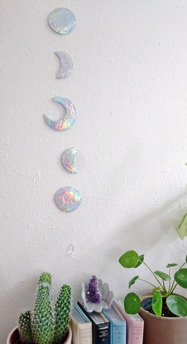 DIY Mond Girlande mit Holo-effekt. DIY Moon garland holographic (18)