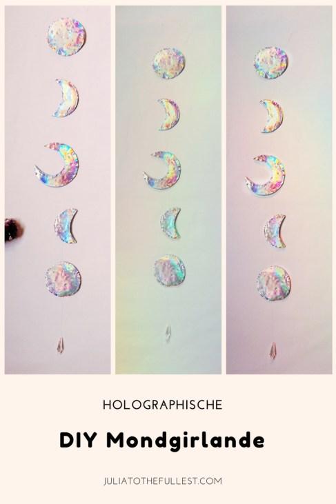 DIY Mond Girlande mit Holo-effekt. DIY Moon garland holographic (3)