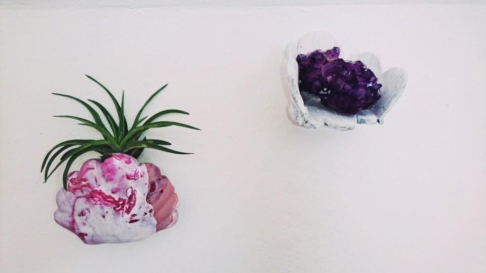DIY Muschel Wandvase aus Fimo für Luftpflanzen, blumenvase diy (20)
