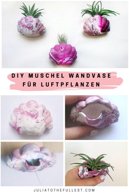 DIY Muschel Wandvase aus Fimo für Luftpflanzen, blumenvase diy (2)