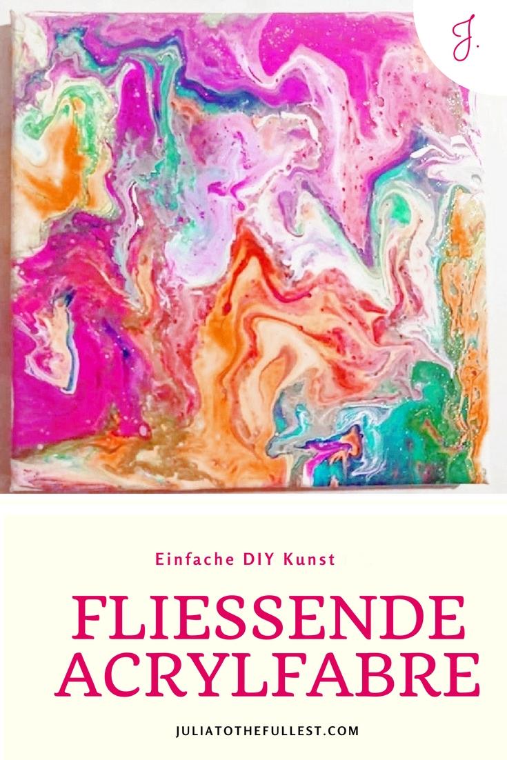 Fluid Painting, DIY fließende Acrylfarbe