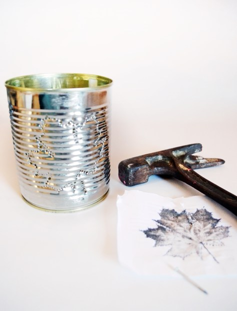 DIY Dosenlatere Konserven upcycling Dosenlicht, Konservenlaterne herbstblatt diy, herbst diy (23)