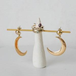 Schmuckständer einfach selber basteln, diy moderner schmuckständer für Ohrringe und Ringe - 5 minute craft idea - bastelidee für erwachsene aus modelliermasse