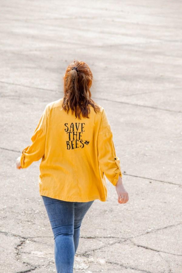 diy print - vorlage save the bees auf shirt einfach selber drucken