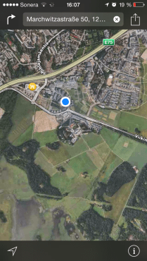 blue dot = University Campus