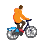 Barclays bike man
