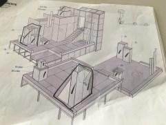 Setdesign Dächerwelt