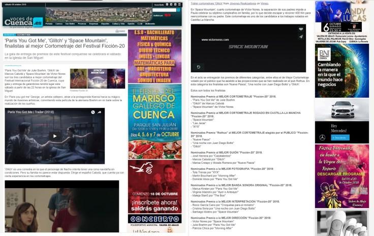 """4 Nominations for """"Paris you got me"""" Best Short/ Best Score / Best Cinematography/ Best DirectionFICCION - 20"""