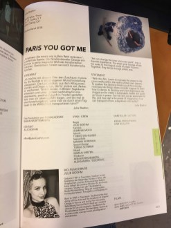 "Hofer Filmtage ""Paris you got me"""