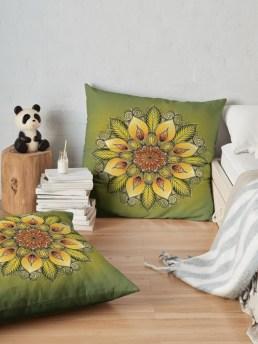 julie boehm sunflower pillow