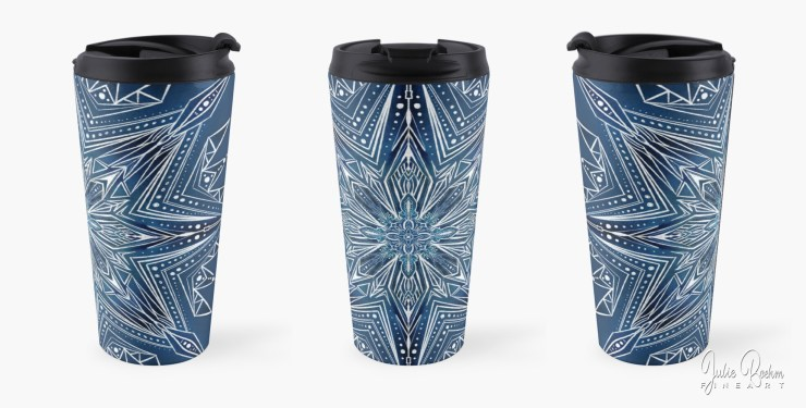 travel_mug_snowflake_JulieBoehmART