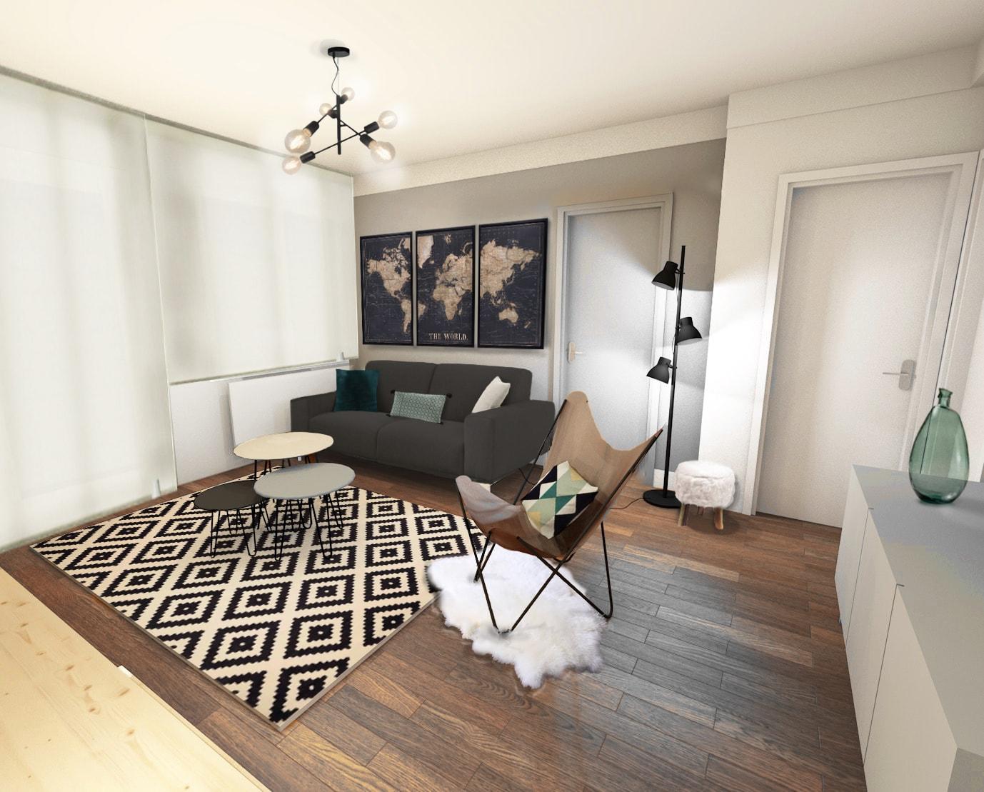 Un appartement au style rétro pour une colocation