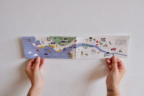 Carte illustrée de nantes estuaire