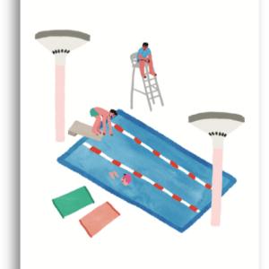 Illustration piscine Léa Maupetit