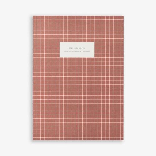 cahier rouge brique