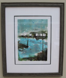 Emsworth Deck Houses framed_monoprint