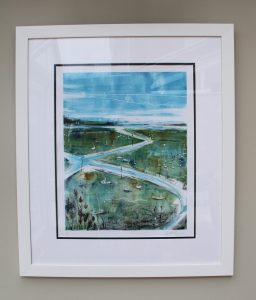 Emsworth Channel Monoprint - Julie Turner