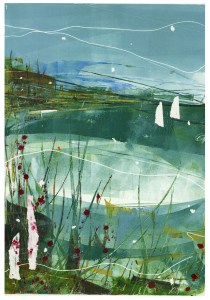 Teal harbour giclee
