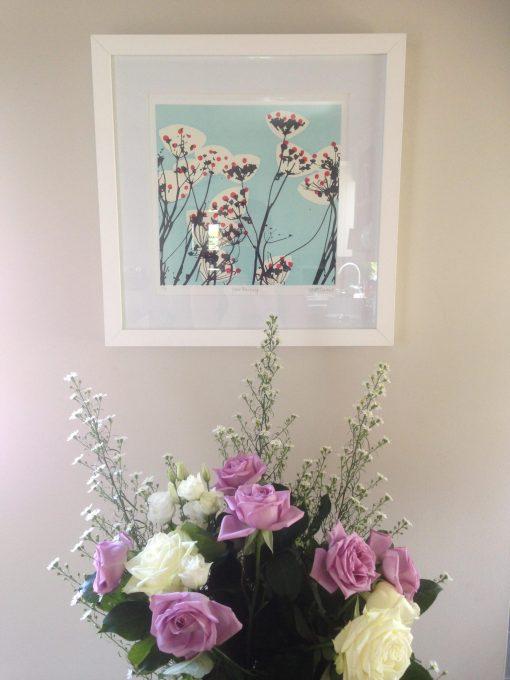 wedding anniversary flowers and print