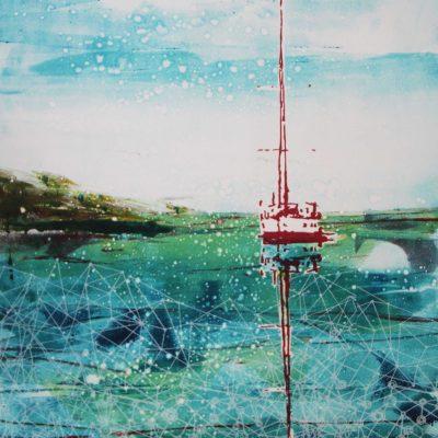 A Sea full of Stars mono print Julie Turner