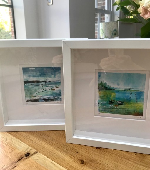 Emsworth Mini Monoprint framed
