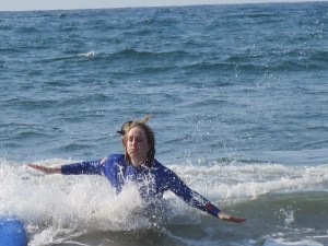me surfing