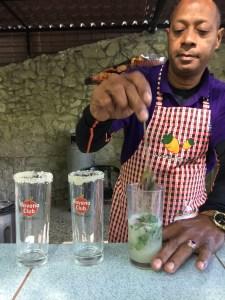 mojito in the making