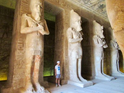inside the first chamber of the temple of ramesses