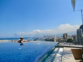 the rooftop infinity pool