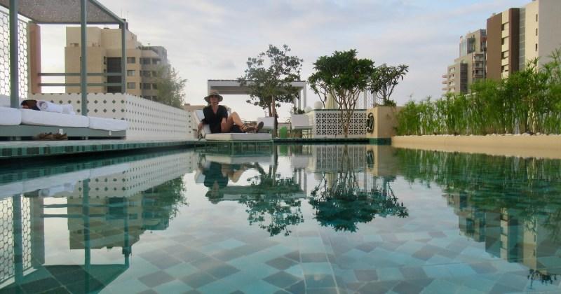 me enjoying the pool