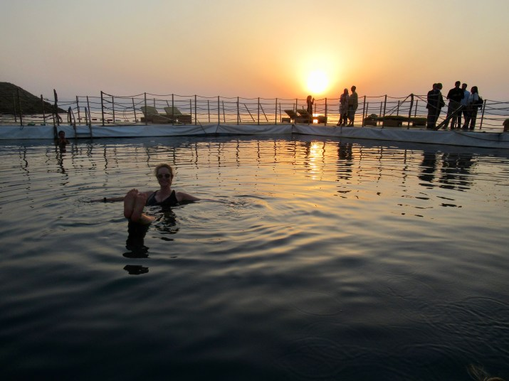 sunset in the dead sea