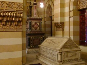 beautiful tombs in a family mausoleum