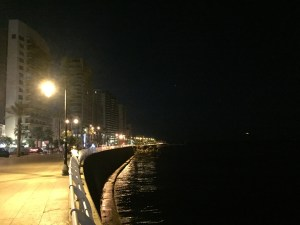 the corniche at night