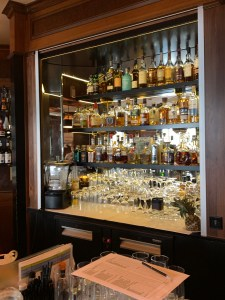 the bar at the Wiltcher's