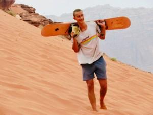 Jack sand boarding