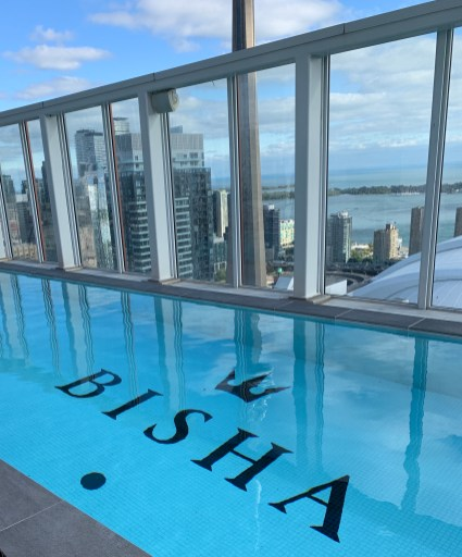 rooftop pool at the Bisha